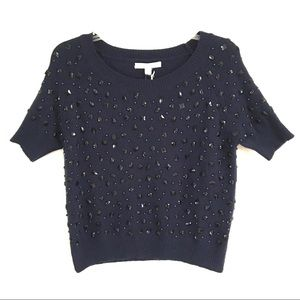 NWT Piperlime collection beaded sweater M